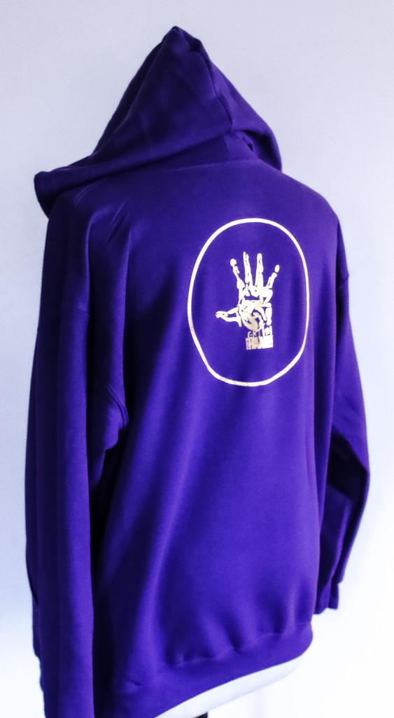 FH wear zip up purple hoodie