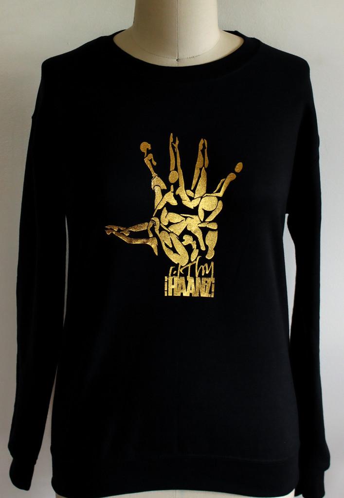 Fh Sweater/Crewneck Gold Foil Hand