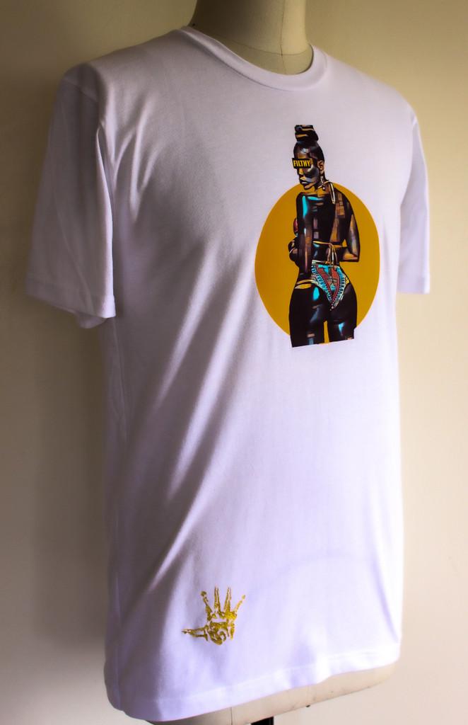 FH Wear Black Sun white shirt