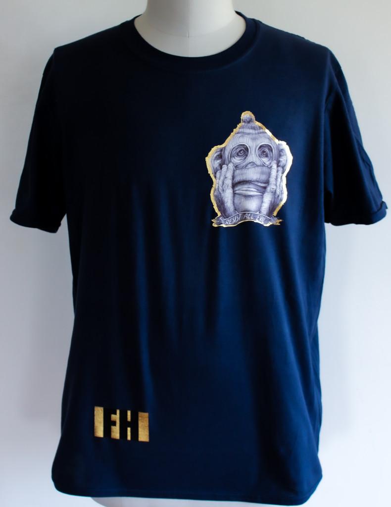 FH Wear resist all evil t shirt navy blue