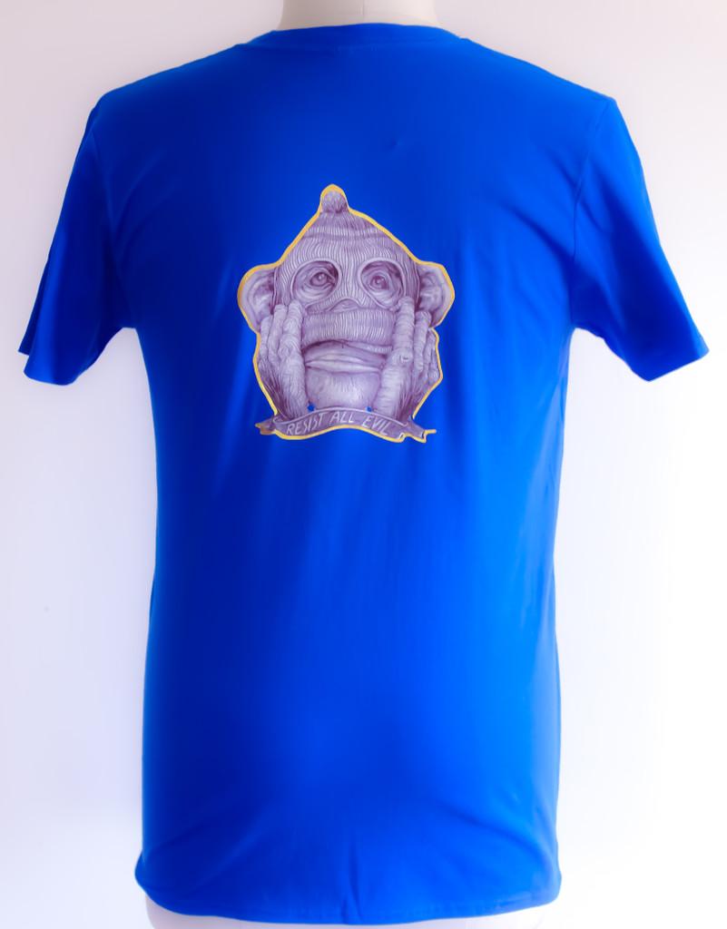 FH Wear resist all evil t shirt royal blue