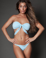 Baby Blue Bandeau Two Piece Bikini