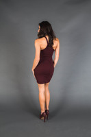 Burgundy Window Dress
