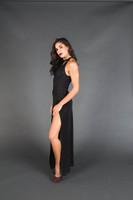 Black Long Window Dress