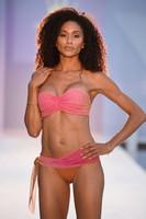 Ombre Pink to Green Mesh Bikini Set