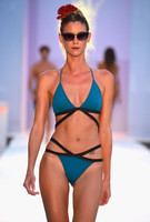 Blue Crossbody Bikini