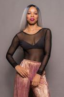Black Long Sleeve Mesh/Dry Tex Body Suit