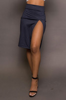 Thigh Slit Pencil Skirt