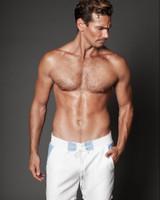 Baby Blue/White Shorts