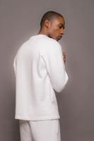 White Mens Gold Logo Sweatshirt