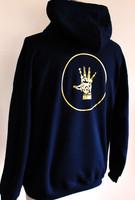 FH wear zip up navy blue hoodie