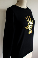 Fh Crewneck Sweater Gold Hand