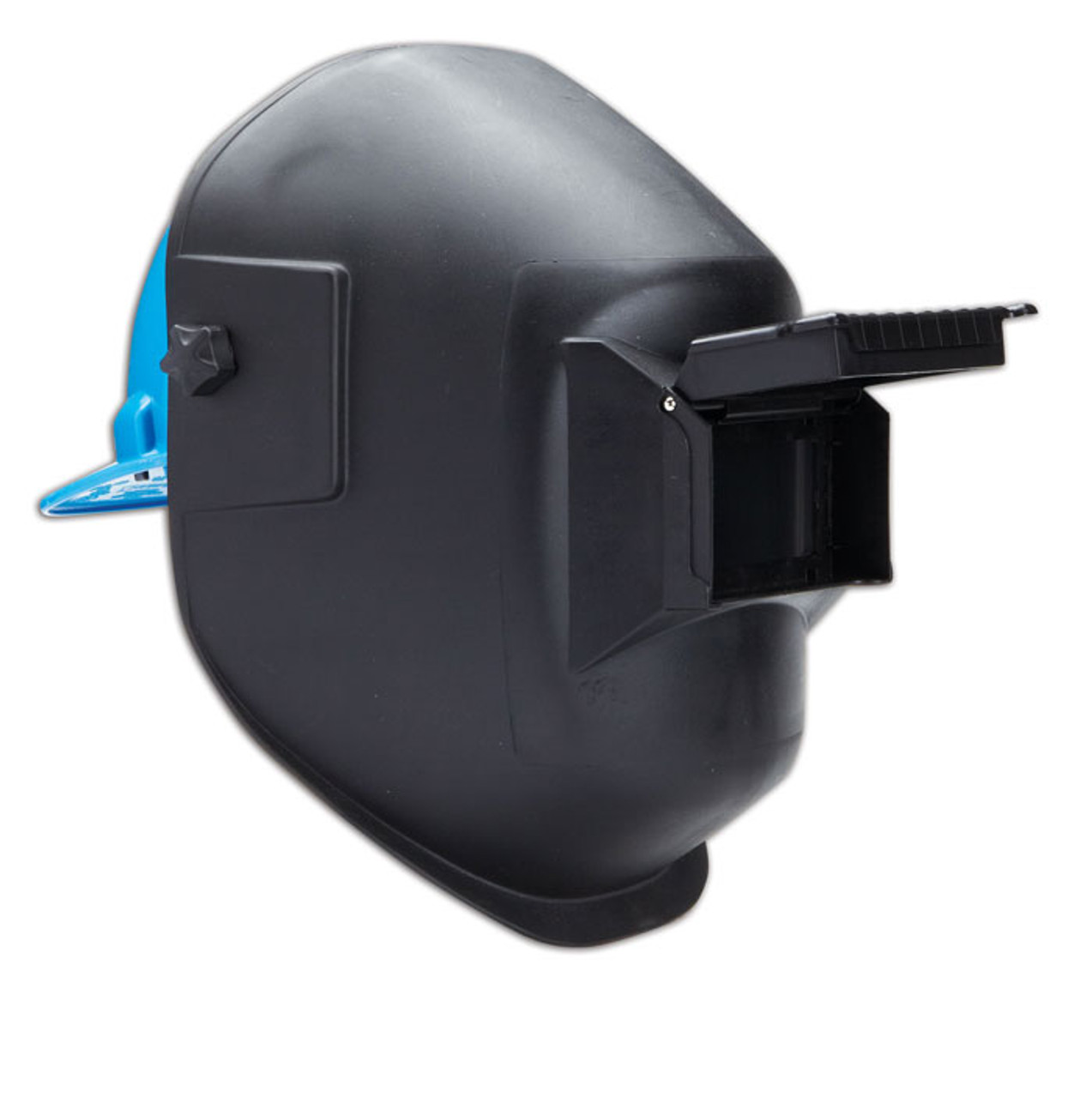 2 x 4.25 Fixed Front Complete with Polycarbonate Shade 10 Filter Plate and Clear Cover Plate Dynamic Safety EP101 Super-Tuff Black Basic Thermoplastic Welding Helmet