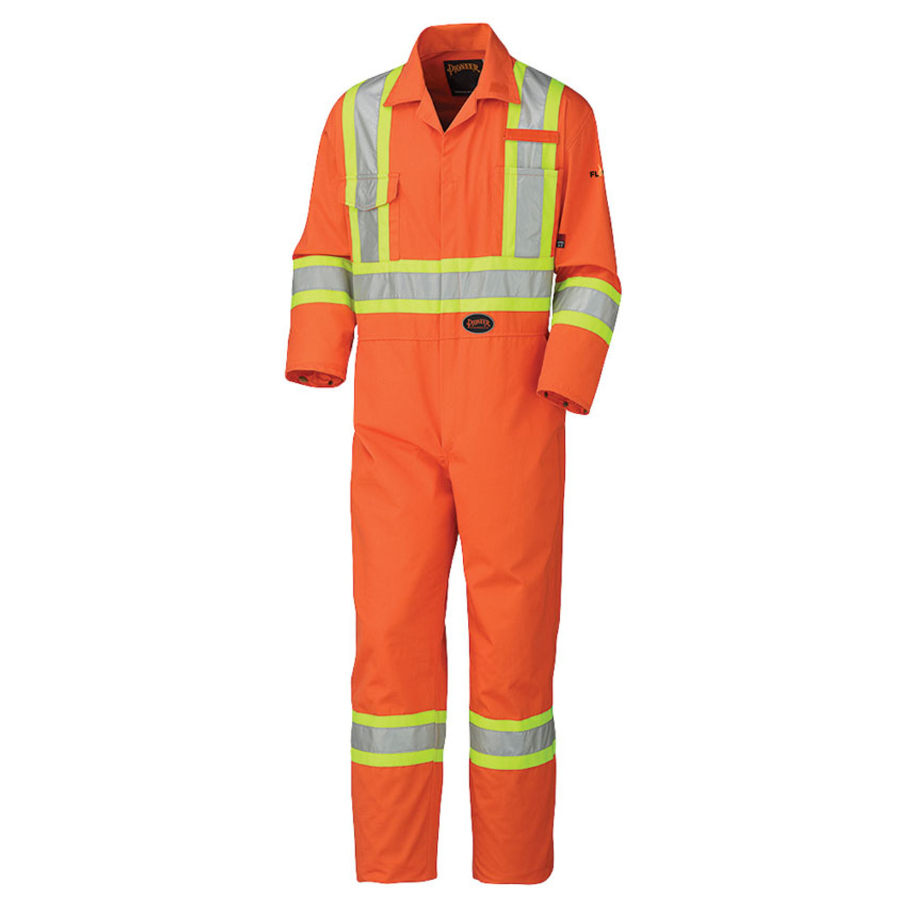 Hi-Vis Fire Resistant Cotton Safety Coverall (Reg/TALL) | FR, CSA | Pioneer