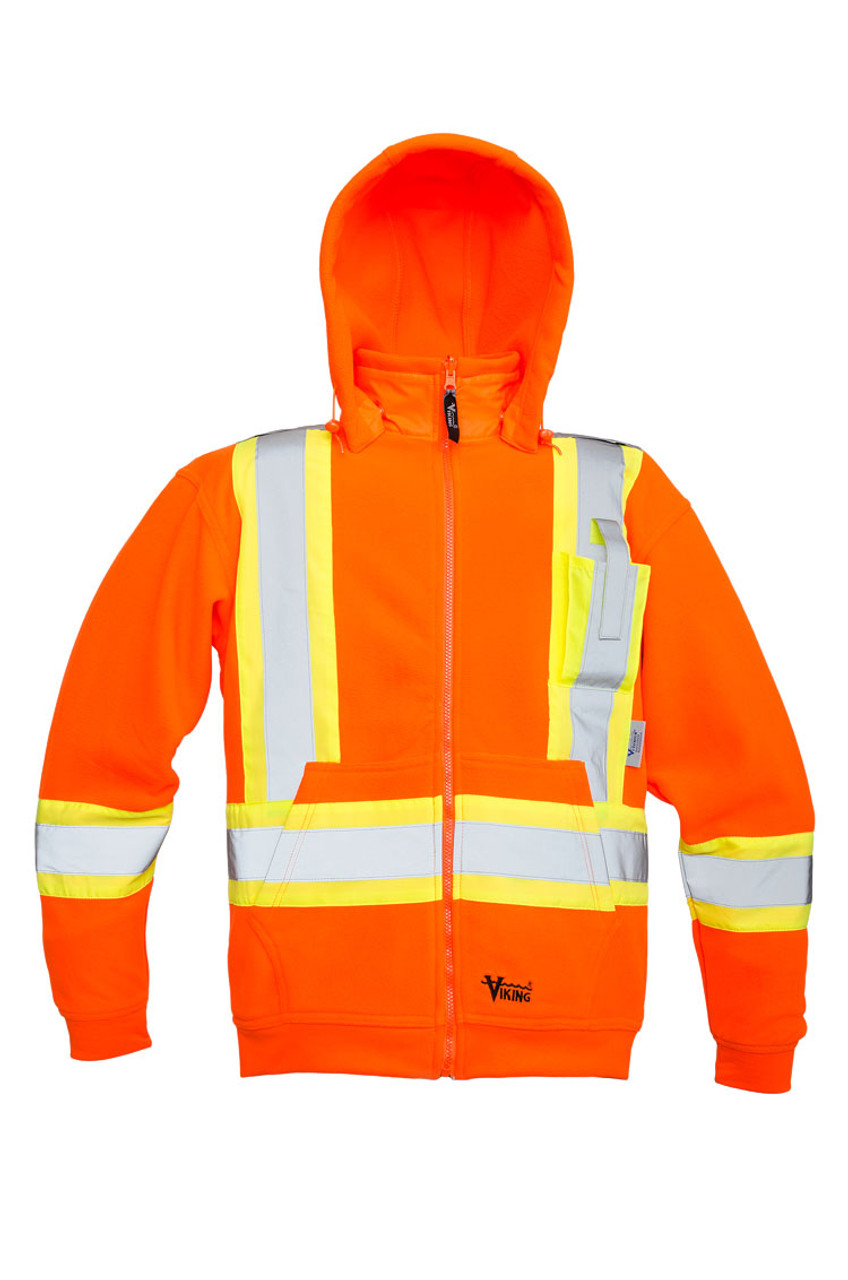 5ab13910a41 Hi-Vis Anti-Pill Poly Fleece Safety Hoodie - CSA