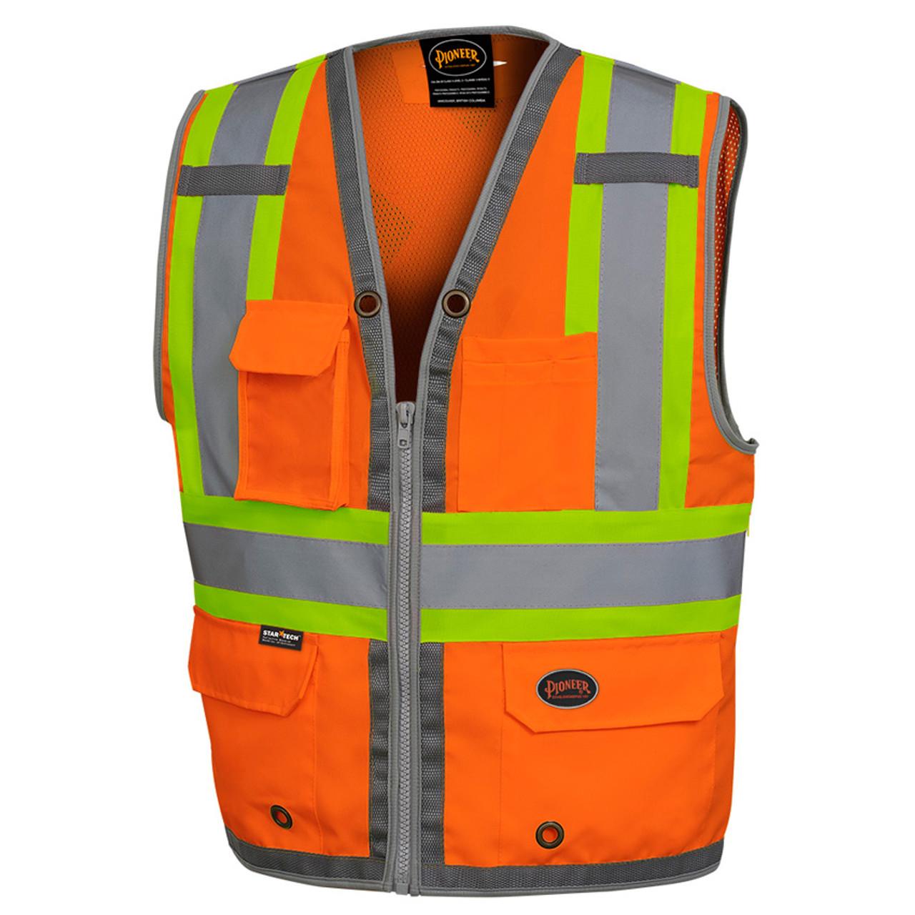 94350e5c5890 Hi-Vis Mesh Back Zip Surveyor Safety Vest CSA
