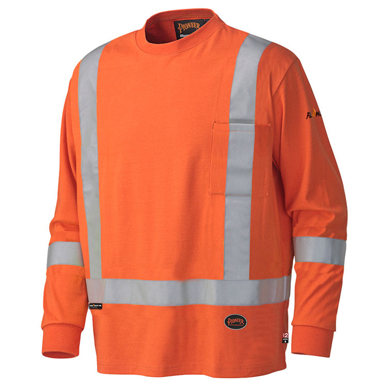9a11acb5f06 FR Hi-Vis Cotton Long-Sleeve Shirt CSA