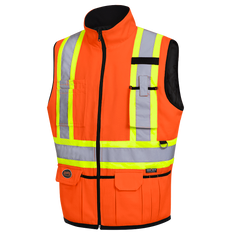 Hi-Viz Reversible Insulated Safety Vest | Pioneer