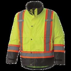 300D Hi-Viz Trilobal Ripstop Waterproof Safety Jacket   Pioneer