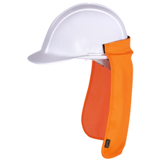 • Solid poly/cotton blend  • Hook and loop sticker for easy attachment to hard hat  • Provides solid sun protection for neck and ears