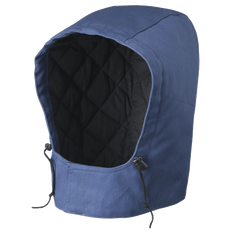 • FR drawstring with toggle  • Large hook and loop closure  • Concealed metal snap  • Snaps onto parka or coverall