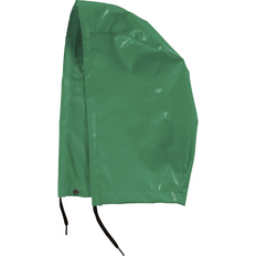 • 10 oz/yd² FR PVC/polyester  • Fits easily over hard hat, drawstring for best fit  • Non-conductive snap attachments  • 3-piece hood design