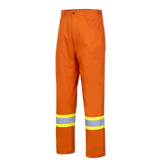 • Lightweight, ultra-cool, hi-viz work pant  • 100% hi-viz cotton twill, 5.9 oz (200 GSM)  • Double-stitched StarTech® reflective tape  • CSA Z96-15 Class 3 Level 2 when worn with Class 2 Level 2 top featuring reflective arm bands  • 2 front pockets  • 2 back jeans-style pockets