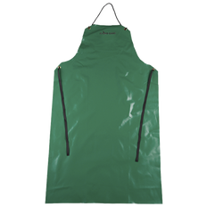 """• 10 oz/yd² FR PVC/polyester  • 29"""" x 48"""" bib style apron  • Chemical and acid resistant  • Durable waist and neck ties  • Reinforced grommets at tie points"""