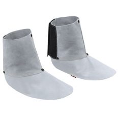 "• 6"" spat  • Pearl grey heat-resistant rugged side-split cowhide  • Hook and loop closure, elastic instep  • Kevlar® stitched for durability  • Reinforcing rivets at stress points"