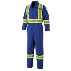 • FR-Tech® 88% premium cotton blended with 12% high-tenacity nylon, 7 oz (240 GSM)  • Material and all components meet CGSB 155.20-2017 and NFPA 2112-2018 certified to UL  • Average Thermal Protective Performance (TPP) value: 9 cal/cm²  • 7702/7702T - CSA Z96-15 Class 3 Level 2 and Class 3 Level FR  • 7704/7704T - CSA Z96-15 Class 1 Level 2 and Class 1 Level FR  • Meets ASTM F1506-2018, NFPA 70E-2018 and CSA Z462-2018  • ATPV 10 cal/cm² (Arc Thermal Protective Value)  • ARC 2 Arc Rating Category  • Double-stitched StarTech® FR reflective tape  • Sewn with aramid inherently FR thread  • Flame resistance guaranteed for the life of the garment  • Radiophone clip strap  • 2-way FR brass zipper  • 7 storage pockets: 2 back, 2 chest, 2 side, 1 tool  • 2 pass-through pockets  • Adjustable wrists and ankles  • Action back and elastic waist
