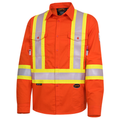 FR-Tech® Flame Resistant 7 oz Hi-Viz Safety Shirt | Pioneer