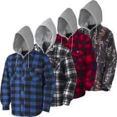 Quilted Hooded Polar Fleece Shirt | Pioneer