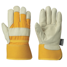 Insulated Fitter's Cowgrain Gloves - 1-PC Palm - Out. Elastic - Thinsulate®  | P