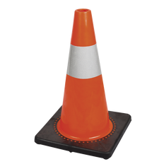 "18"" (45 cm) Premium PVC Flexible Safety Cone (4'' Band) 