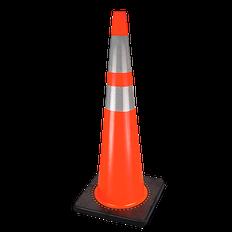 "36"" (91.4 cm) Premium PVC Flexible Safety Cone | Pioneer"