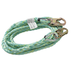 Vertical Lifeline - Snap Hooks - 50' (15.2 m), VL-1122-50