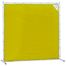 Sellstrom Welding Curtain with Frame - 6'x8' - Yellow - S97339