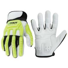 Mechanics Glove, Goatskin Grain Palm,EVA Gel Pad, Kevlar sewn and stitched    ANSI/ISEA   Stout Gloves