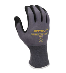 Blended Nylon/Spandex Glove - Foam Dipped Nitrile, Elastic Cuff | Pack of 10 | EN388:2015 4131 | Stout Gloves