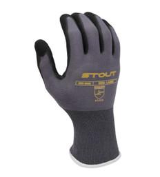 Blended Nylon/Spandex Glove - Foam Dipped Nitrile, Elastic Cuff | Pack of 12 | EN388:2015 4131 | Stout Gloves