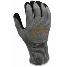 Seamless Knit Glove w/ Sandy Foam Nitrile, 13GA, A5 Liner | Pack of 12 | ANSI/ISEA | Stout Gloves