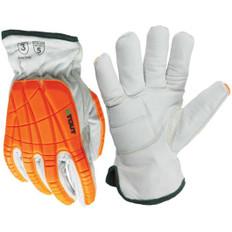 Platinum Glove, EVA Gel Pad, Goatskin, Impact, Cool Para-Aramid   ANSI Cut 5   Stout Gloves
