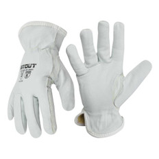 Driver Glove, Goatskin Grain Leather, Kevlar Sewn and Stitched | ANSI Cut 11 | Stout Gloves
