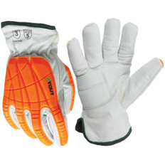 Winter Platinum Glove, EVA Gel Pad, Goatskin, Impact, Cool Para-Aramid | Insulated | | ANSI Cut 5 | Stout Gloves