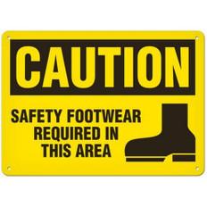 OSHA Safety Sign | Caution Safety Foot  | Incom