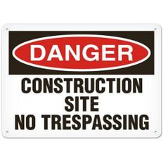 OSHA Safety Sign | Danger Const, No Tres | Incom
