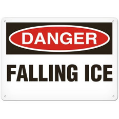 OSHA Safety Sign | Danger Falling Ice | Incom