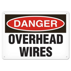 OSHA Safety Sign | Danger Overhead Wire | Incom