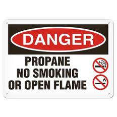 OSHA Safety Sign | Danger Smoke Propane | Incom