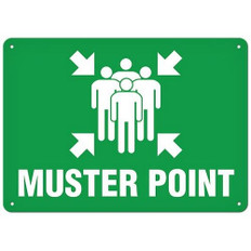 OSHA Safety Sign | Muster Point  | Incom